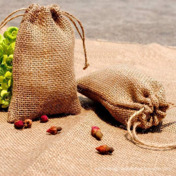 custom printed eco-friendly drawstring jute bags