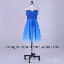 Vestido regresso a casa Gradual Sweetheart plissados A linha Chiffon Prom Dress