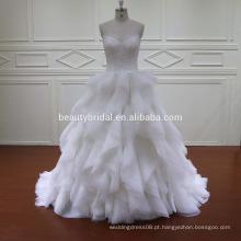 2016 luxo vintage ruffle longo rastro casamento vestido de noiva