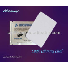 Tarjeta de limpieza ATM / POS CR80, tarjeta de limpieza del lector de tarjetas Prehúmeda con la clase eléctrica Ipa