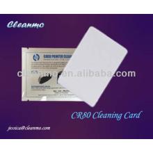 Carte de nettoyage de distributeur automatique de billets / POS CR80, carte de nettoyage de lecteur de carte pré-mouillée avec la classe électrique Ipa