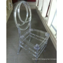 Clear Crystal Plastic Phoenix Chair for Banquet