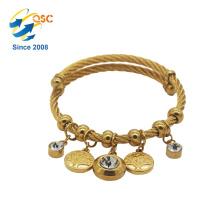 Conception simple avec plaqué or Bracelet de bijoux de mode