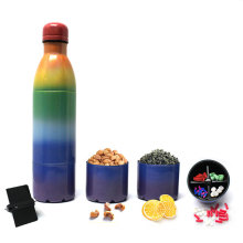3 in 1 New Design Stainless Steel Vacuum Bottle with Container and Infuser