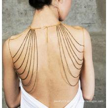 Novas Mulheres Trendy Shoulder Harness Body Chains Moda Jóias