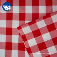 Tela 100% vermelha da cortina do jacquard do estiramento do poliéster das estruturas