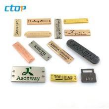 Wholesale high quality metal handmade labels custom label for handbag logo metal plates