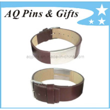 Leather Bracelet with Watch Clasp