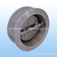Robinet de retenue pivotant à double disque en acier inoxydable