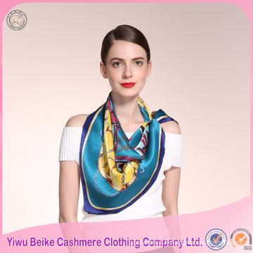 Nouveau produit à la mode style hiver femmes écharpe en soie imprimé