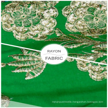 Home Textile 100% Rayon Embroidered Sequin Clothing Fabrics