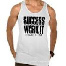 Men′s Cotton and Spandex Screen Printing Singlet
