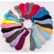 Women Plain Socks Hot Sale Lady Socks
