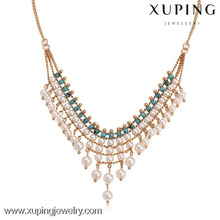 42016 Beautiful pearl necklace jewelry, latest design pearl jewelry, beads necklace design