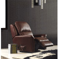 Genuine Leather Chaise Leather Sofa Electric Recliner Sofa (843)