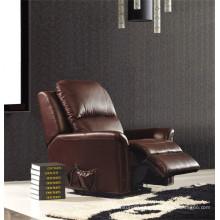 Canapé en cuir de chaise en cuir véritable Canapé inclinable électrique (843)
