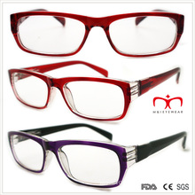 Ladies Plastic Reading Glasses with Spring Temple (WRP508327)