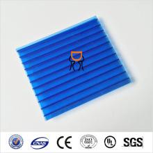 4mm Polycarbonat hohles Blatt mit Bescheinigung von ISO, CER, UL, SGS, 7colors für wählen