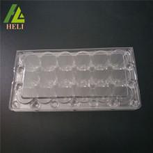 Récipient en plastique d'emballage d'oeufs de caille de Coturnix