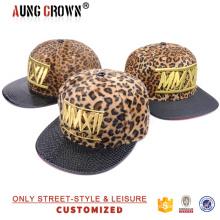 Tampão de Snapback de Design Simples barato com Leopard Crown