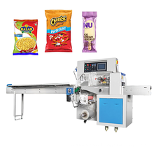 Factory Price Pillow Pack Type Horizontal Biscuit Packing Machine Bread Cookies Chocolate Bar Pillow Packaging machine