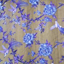 Тюль Кружевная ткань с вышивкой и цветами птиц