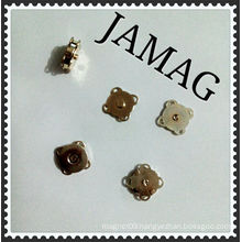 JM snap button magnet with sewing holes brass coating