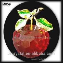 cristal de maçã de cristal novo presente de Natal