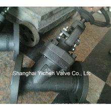 Тип Y A105 печать давления Фланцевый запорный клапан