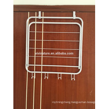 vivinature 4 Hook Over the Door Rack Hanger for Hanging Clothes Coat Hat Belt Metal