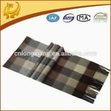 Classic Checked Style Homens 30 * 180cm escovado Padrão Softest Fleece Scottish Cashmere Scarf