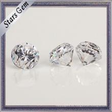 Zirconia cúbica del corte del diamante de la venta caliente con la faja gruesa
