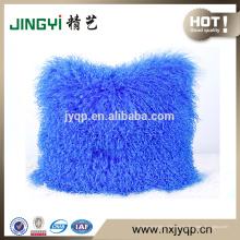 Venta al por mayor Tibetan Mongolian Lamb Fur Wool Cushion Cover