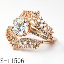 Ensemble nuptiale en argent 925 en forme de mode de design le plus récent (S-11506)