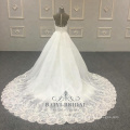 Removable Sweetheart Muslim 2 Pieces Wholesale with Long Train Bridal Wedding Dresses Bride China