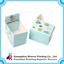 Full color artboard display perforated paper box with your own design