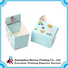 Caixa de papel perfurada de exibição de pranchas coloridas com seu próprio design