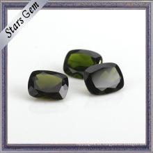 Claro piedras preciosas de diópsido natural precioso verde esmeralda