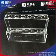 Transparente Acryl Pen Halter mit Slots, Reagenzglas Display Stand