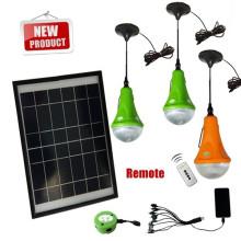 1/2/3 ampoule led peut être chosed lumière maison solaire avec chargeur USB et poignées