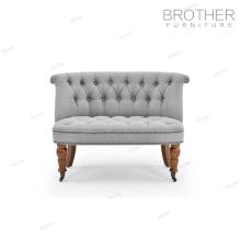 Mobilier de luxe maison 2 places canapé hôtel décoratif chaise d'appoint avec coussin en tissu