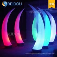 Decoración Conos Inflables Ducha de Marfil Columna LED Tubo Arco