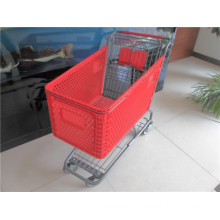 Rod Type Plastic Shopping Basket Trolley