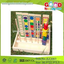 OEM&ODM kids beads counting toys educational wooden counting toys colorful beads counting wooden toys