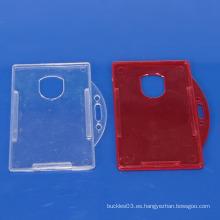 Titular de tarjeta de plástico de color con logotipo de impresión de cliente