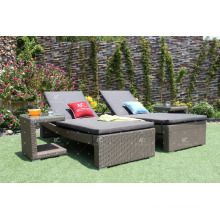 High quality Synthetic PE PVC Rattan Outdoor Sunloungers Resort Furniture