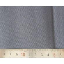 Sergé de coton Polyester gris tissu tissé