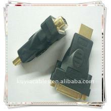 Позолоченный разъем HDMI для DVI-I Женский адаптер 24 + 5 DVI конвертер