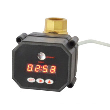 Hot Sale 1 Inch Electric Flow Shut off Timer Drain Ball Valve with CE