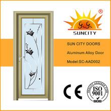 Puerta abatible de vidrio aluminio Sc-Aad002